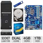 GIGABYTE GA-Z77-DS3H Intel 7 Series Motherboard and Intel Core i3-2120 3.30 GHz Dual Core Processor and ADATA Premier Srs 4GB DDR3 Desktop Memory Module and Toshiba 1TB Hard Drive and Samsung I Bundle