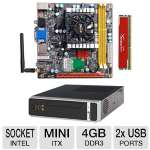 ZOTAC IONITX-N-E Intel Mini-ITX Motherboard and Kingston HyperX Red 4GB Memory Module and HEC 8K07 Mini ITX Case w/ 200W PSU Bundle