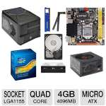 "Zotac Z77ITX-A-E Intel Z77 Motherboard and Intel Core i5-2500K 3.30GHz Quad-Core Unlocked CPU and ADATA Premier Srs 4GB DDR3 Desktop Memory Module and Seagate Barracuda 500GB SATA6G 3.5"" Intern Bundle"
