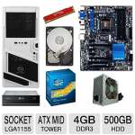 GIGABYTE GA-Z77X-UD3H Intel 7 Series Motherboard and Intel Core i5-3470 Processor and Kingston HyperX Red 4GB Memory Module and Seagate Barracuda 500GB SATA6G 3.5&quot; Internal HDD and LG 24X DVD B Bundle