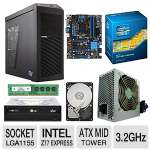 MSI Intel Z77A-G45 Motherboard and Intel Core i5-3470 Processor and Centon 4GB Desktop Memory Module and Seagate Barracuda 500GB SATA6G 3.5&quot; Internal HDD and LG 24X DVD Burner and Kingwin M Bundle