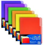 BAZIC 1/3 Cut Letter Size Color File Folder (6/Pack) (Case of 48)