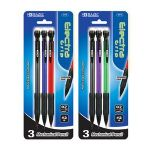 BAZIC Electra 0.7 mm Mechanical Pencil with Grip (3/Pack) (Case of 12)