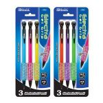 BAZIC Electra 0.7 mm Fashion Color Mechanical Pencil with Gel Grip (3/Pack) (Case of 12)