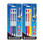 BAZIC Accent 0.5 mm Triangle Mechanical Pencil with Grip (3/Pack) (Case of 12)