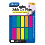 """BAZIC 25 Ct. 0.5"""" X 1.7"""" Neon Color Coding Flags (10/Pack) (Case of 24)"""
