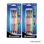 3-PACK GEL GRIP MECHANICAL PENCIL