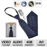 Feel-Safe Spy Camera Tie - Mini DVR-Hidden, Video 720x480, Remote Control Video, 4G-Audio Recorder - EM-53