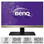 "BENQ 24"" MHL Entertainment Monitor - 1920x1080p Resolution, 250 cd/m� Brightness, 16.7 Million Display Colors, 20M:1 Dynamic Contrast Ratio, Windows 7/8 Compatible - EW2440L GOLD"