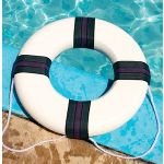 "Blue Wave Foam Ring Buoy - 18"" Diameter, 7.5ft Tow Rope - NT196"