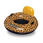 "Blue Wave Swimline Wildthings� Cheetah Float - 40"" Inflatable, Durable, PVC, Drink Holder, Center Mesh, Handle - NT2860"