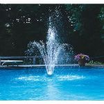 Blue Wave Blossom Floating 3 Tier Fountain -  7 to 16 Feet Spray Height, Easy Installation - NT400