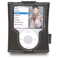 Belkin Leather Sleeve for iPod nano - Black (F8Z204-BLK)
