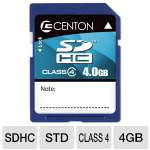 Centon 4GB SDHC Flash Memory Card - Class 4, 4MB/s Write Speed (S1-SDHC4-4G)