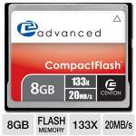 Centon 8GBACF133X Advanced CF Flash Memory Card - 8GB, 133X