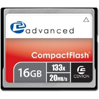 Centon 16GBACF133X Advanced CF Flash Memory Card - 16GB, 133X