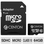 Centon MP Essential 64GB Memory Flash Card - Micro SDXC, Class 10 (S1-MSDXC10-64GB)