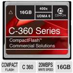 Centon 16GBACF400X Advanced Memory Flash Card - Compact Flash, 16GB, C 360, 20MB/s Write Speed, 400X