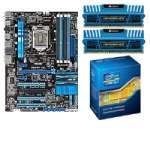 ASUS P8P67 LE B3 Intel P67 Motherboard and Intel Core i5-2500K 3.30GHz Quad-Core Unlocked CPU and Corsair Vengeance 8GB (2x 4GB) DDR3 Memory Kit Bundle