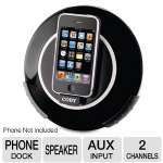 COBY CSMP105CHA Speaker Dock - Speaker Dock for iPod, Full-range 2.75&quot; Speaker, 90 Rotation, AUX Input