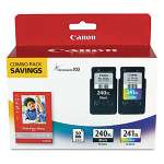 Canon PG-240XL Black/CL-241XL Tri-Color/GP-502 Combo Pack - High Capacity Ink Tank, ChromaLife 100 Ink, Black, Cyan, Yellow, Magenta, 50 4x6 Glossy Photo Paper - 5206B005