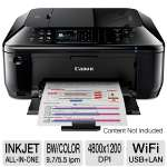 "Canon PIXMA MX512 Wireless Office All-In-One Inkjet Printer - Scan, Fax, Copy, Auto-Duplex (2-sided printing), 3.5"" LCD, AirPrint, Print from Mobile Device"