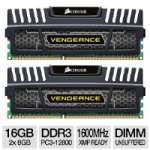 Corsair Vengeance - DDR3 - 16 GB : 2 x 8 GB - DIMM 240-pin - 1600 MHz / PC3-12800 - CL10 - 1.5 V - unbuffered - (CMZ16GX3M2A1600C10)