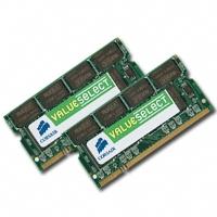 Corsair 2048MB PC5400 DDR2 667MHz SODIMM Laptop Memory (2 x 1024MB)