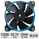 Corsair SP120 CO-9050007-WW High Performance Edition High Static Pressure - 120mm Fan, 12V, 62.74 CFM, 35dBA, 0.18 A