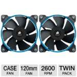 Corsair CO-9050008-WW SP120 Performance Edition 120mm Fan Twin Pack - 2x 120mm Fan, 35 dBA, 62.74 CFM, 2350 RPM