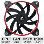 Corsair AF120 Quiet Edition CO-9050001-WW High Airflow Fan - 120mm Fan, 39.88 CFM, 21dBA, 1100 RPM, 0.08A