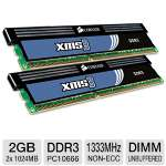 Corsair XMS3 2GB Dual Channel DDR3 RAM