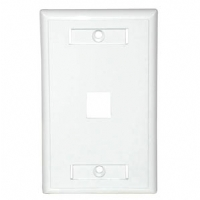 Cables To Go 1-Port Keystone Wallplate - White