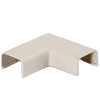 Cables To Go 13369 Tyton Elbow Corner Raceway -  .75in, Ivory