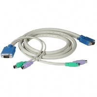 Cables To Go 15-Foot True Spec 3-In-1 PS/2 KVM Cable