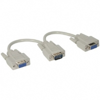 Cables To Go  8-inch VGA HD15 (1)Male-to-(2)Female Monitor Splitter Cable