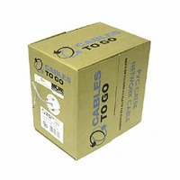 Cables To Go 500-Foot Cat5e 350Mhz Solid Plenum CMP Cable, White
