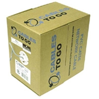 Cables To Go 500-Foot 350Mhz Cat5e Solid UTP RJ-45 Cable - White