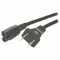 Cables To Go 6-Foot Polarized 2-Slot Power Cord
