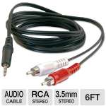 C2G Value Series 3.5mm to RCA Y Cable