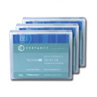 QUANTUM DATA CARTRIDGE, TRAVAN 40, THREE-PACK.