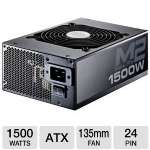 CoolerMaster Silent Pro M2 RSF00-SPM2D3-US 1500W Modular Power Supply - Active PFC, 135mm Fan, Heat Sink, Silent Operation, Dual 12V Power Rails, Eco-friendly