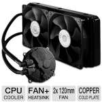 Cooler Master Seidon 240M Liquid CPU Cooler - 2x 120mm PWM Fan, Water Pump, 240mm Aluminum Radiator, Copper Cold Plate,  - RL-S24M-24PK-R1