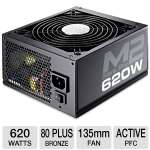 Cooler Master Silent Pro RS620-SPM2E3-US 620 Watts Power Supply - Copper-Aluminum Heat Sink, 135mm HDB Fan, Single 12V, Modular, Eco-friendly, Active PFC, 80 Plus Bronze