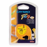 Dymo Yellow Plastic Letratag Tape Black Print