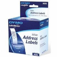 "Dymo 30252 White Address Labels, 1.13"" x 3.5"", 350 Labels Per Roll, Box Of 2 Rolls"