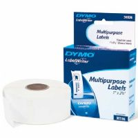 DYMO Multipurpose White, 1&quot; x 2-1/8&quot;, 500 labels per roll, 1 roll per box