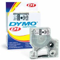 Sanford D1 Standard Tape Cartridge for Dymo Label Makers, 1/2in x 23ft, Black on Clear-45010-45010