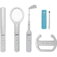 CTA Digital WI-6K Nintendo Wii 6-in-1 Sports Pack - White