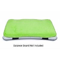 CTA Digital WI-CUSH Wii Balance Board Plush Cushion - Soft Interior, Secure Elastic Straps, Green